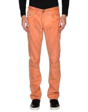Джинсовые брюки TRUE RELIGION. Цвет: лососево-розовый