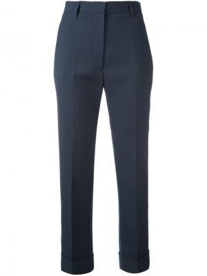 Прямые укороченные брюки Jil Sander. Цвет: синий