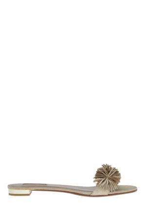 Замшевые сандалии Wild Thing Aquazzura. Цвет: none