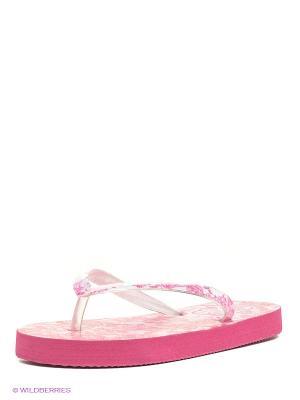 Шлепанцы Kakadu. Цвет: розовый, белый