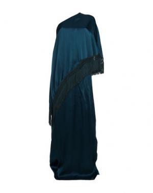 Длинное платье ANDREW GN. Цвет: цвет морской волны