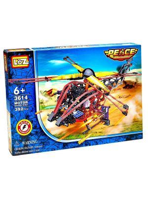 Электромеханический конструктор LOZ Вертолёт - Военный налётчик. Цвет: синий