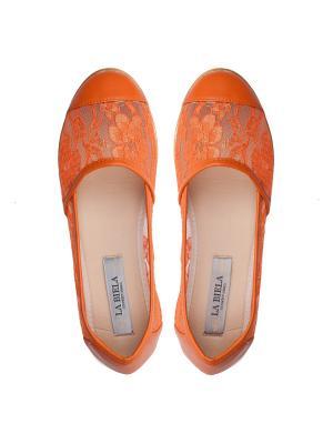 Балетки La Biela. Цвет: оранжевый