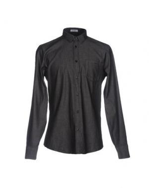 Джинсовая рубашка BIKKEMBERGS. Цвет: стальной серый