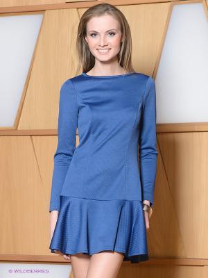 Платье Satin. Цвет: синий