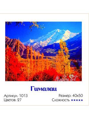 Живопись на холсте Гималаи + диск в подарок MantraArt. Цвет: белый