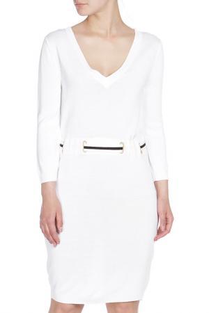Полуприлегающее платье с поясом Whos Who Who's. Цвет: белый