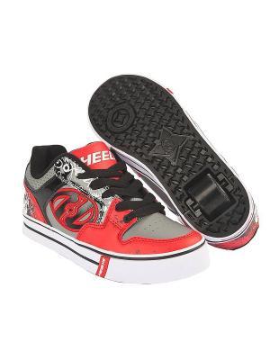 Роликовые кроссовки Motion Plus Heelys. Цвет: серый, красный, черный
