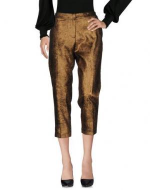 Повседневные брюки SOUVENIR. Цвет: бронзовый