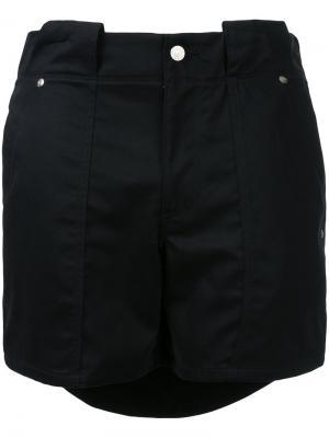 Многослойные шорты Soe. Цвет: чёрный
