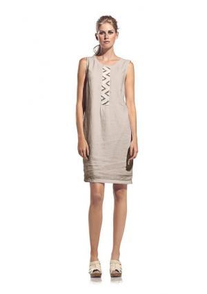 Платье-футляр Rick Cardona. Цвет: мандариновый, нежно-зеленый, песочный
