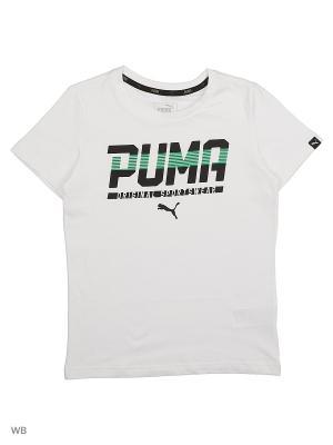 Футболка STYLE Graphic Tee Puma. Цвет: белый