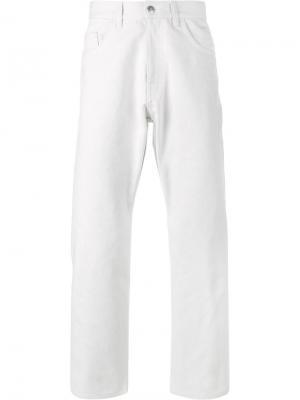Выбеленные джинсы прямого кроя Raf Simons. Цвет: белый