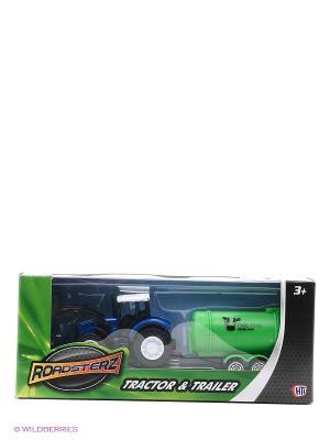 Трактор с зеленой бочкой HTI. Цвет: зеленый