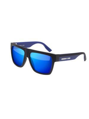 Солнцезащитные очки McQueen. Цвет: черный, синий