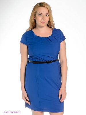 Платье Klimini. Цвет: синий, черный