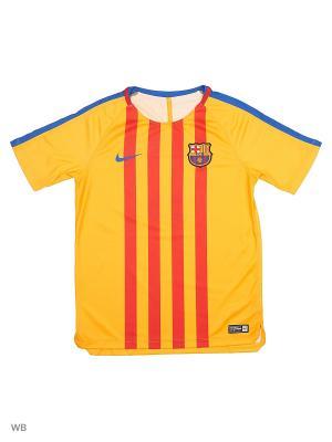 Футболка FCB Y NK DRY SQD TOP SS GX Nike. Цвет: золотистый, синий