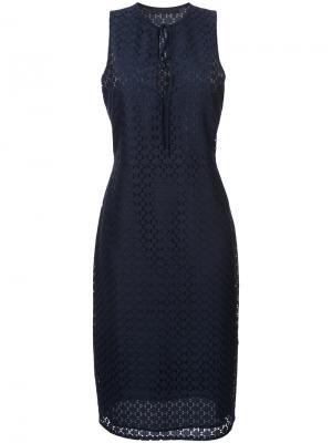 Платье с узором на завязках Jenni Kayne. Цвет: синий