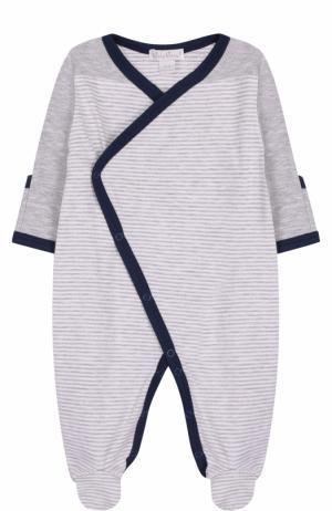 Хлопковая пижама с контрастной отделкой Kissy. Цвет: разноцветный