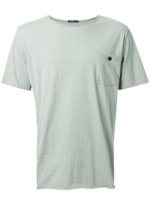 Футболка Original Button Pocket Bassike. Цвет: зелёный