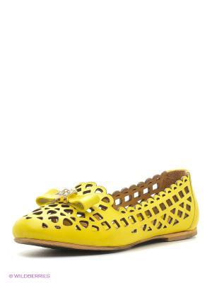 Слиперы Dino Ricci. Цвет: желтый