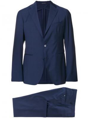 Строгий костюм-тройка Tagliatore. Цвет: синий