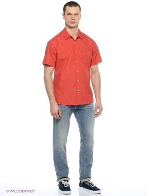 Рубашка Quiksilver. Цвет: красный