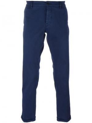 Классические брюки-чинос Pence. Цвет: синий