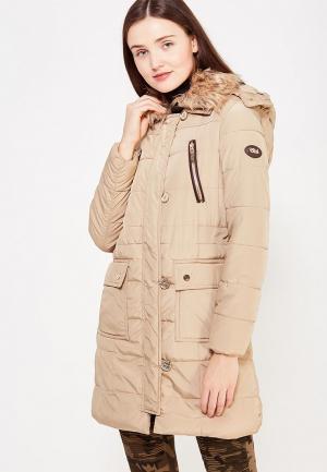 Куртка утепленная Usha. Цвет: бежевый