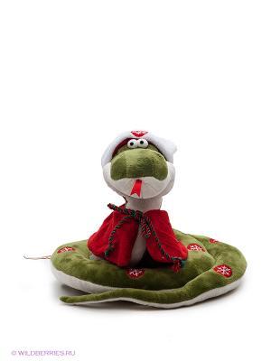 Игрушка Змей Санта ORANGE. Цвет: зеленый, красный, белый