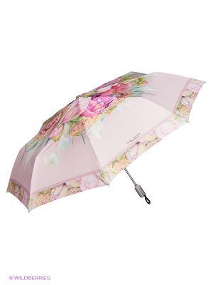 Зонт Slava Zaitsev. Цвет: бледно-розовый, кремовый, светло-серый