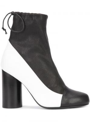 Ботинки на цилиндрическом каблуке Valas. Цвет: чёрный
