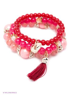 Браслет Lovely Jewelry. Цвет: красный, розовый, малиновый