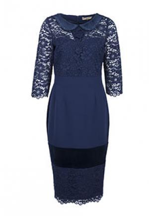 Платье ELISA FANTI. Цвет: синий