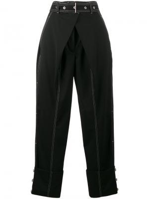 Прямые брюки с завышенной талией Proenza Schouler. Цвет: чёрный