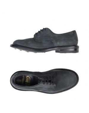 Обувь на шнурках TRICKER'S. Цвет: грифельно-синий