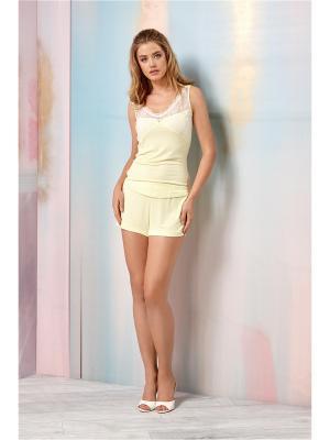 Пижама RELAX MODE. Цвет: желтый