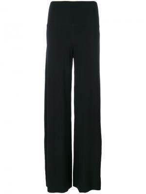 Широкие брюки Norma Kamali. Цвет: чёрный