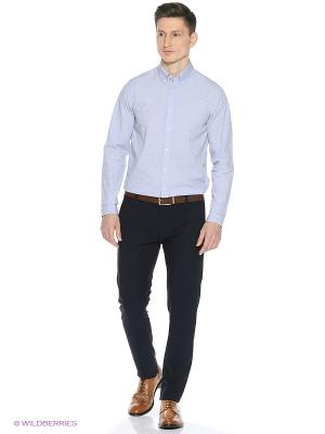 Рубашка Tommy Hilfiger. Цвет: серо-голубой