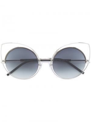Солнцезащитные очки в круглой оправе Marc Jacobs Eyewear. Цвет: чёрный