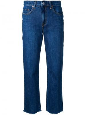 Укороченные джинсы Charlotte Nobody Denim. Цвет: синий