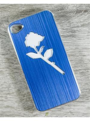 Чехол для телефона Apple iPhone 4/4s MACAR. Цвет: синий