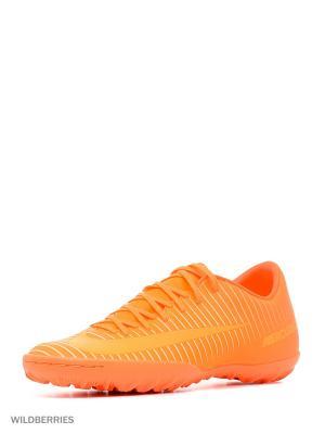 Бутсы MERCURIALX VICTORY VI TF Nike. Цвет: оранжевый