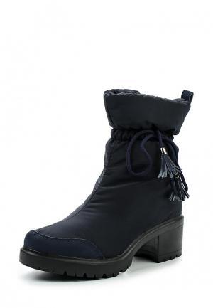 Полусапоги King Boots. Цвет: синий