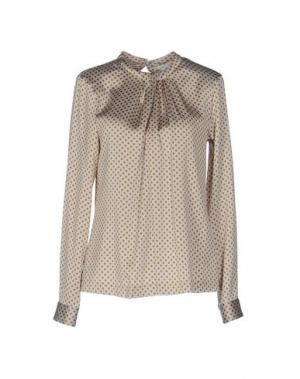 Блузка GUGLIELMINOTTI. Цвет: светло-серый