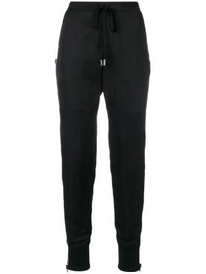High waisted track style trousers Tom Ford. Цвет: чёрный