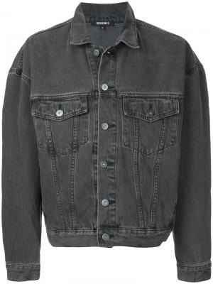 Классическая джинсовая рубашка Yeezy. Цвет: серый