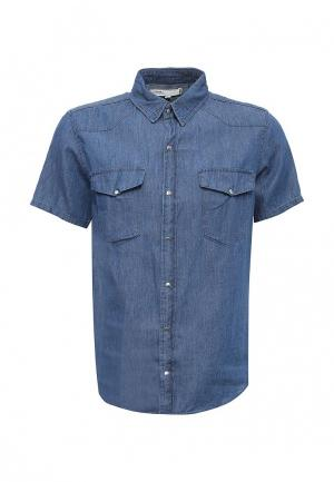 Рубашка джинсовая Modis. Цвет: синий