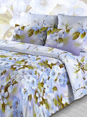 Комплект постельного белья из бязи 1,5 спальный Василиса. Цвет: голубой