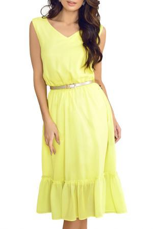 Платье AVEMOD. Цвет: лимонный